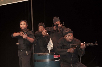 Don Mosenye, Zenzo Nqobe, Tshallo Chokwe and Don Mosenye in SILENT VOICE Photo credit: Sanmari Marais