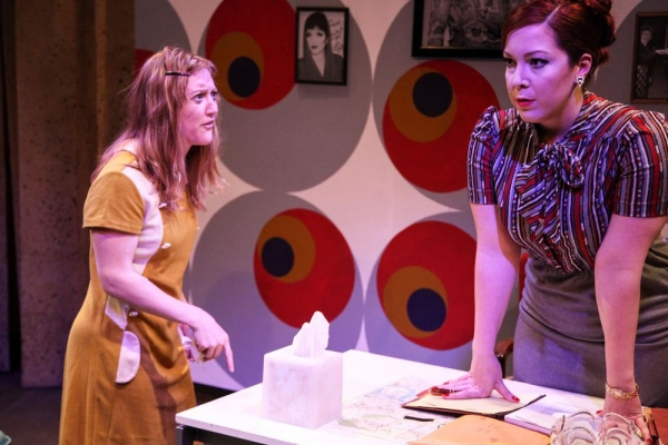 Abbey Smith and Brynne Barnard in Interrobang Theatre Project's production of OWNERS by Caryl Churchill directed by Co-Artistic Director Jeffry Stanton.