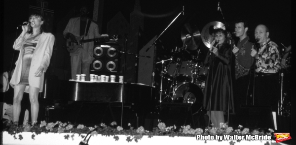 Manhattan Transfer:  Janis Siegel, Cheryl Bentyne, Alan Paul and Tim Hauser performing at Walt Disney World in Orlando Florida 1995.