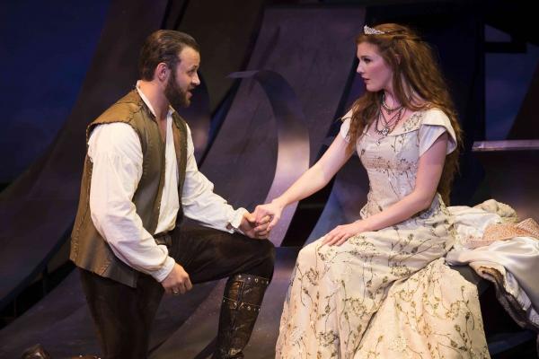Adam Grabau as King Arthur and Mary McNulty as Guenevere Photo