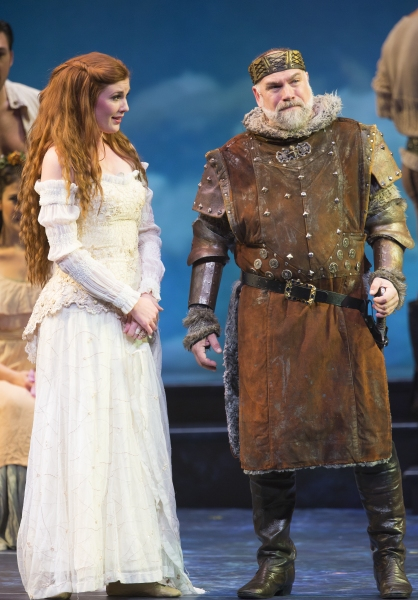 Mary McNulty as Guenevere and Mark Poppleton as King Pellinore Photo