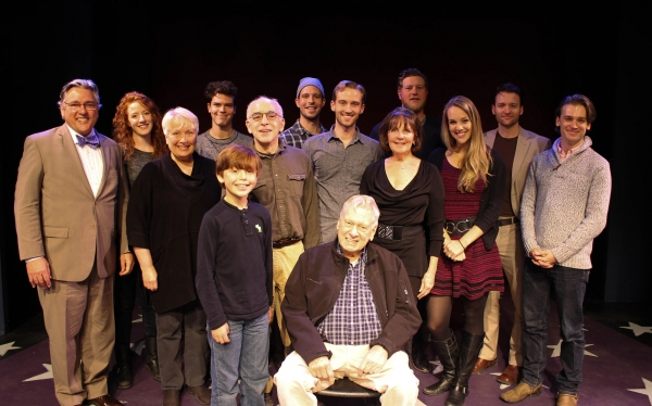 Dylan Boyd, Brian Murray; (Second Row) Barbara Marineau, Gordon Stanley, Ben Gunderson, Madeleine Doherty, Analisa Leming;  (Back Row) Joseph Kolinsky, Sara Killough, Gus Halper, Steve French, Preston Truman Boyd, Glenn Seven Allen
