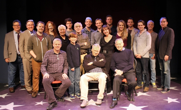 (Front Row) Dale Rieling (music director),Dylan Boyd, Brian Murray, Michael Montel (director); (Second Row) Justin Fischer(associate music director), Barbara Marineau, Gordon Stanley, Ben Gunderson, Madeleine Doherty, Analisa Leming, Wilson Bridges