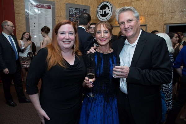 Managing Director Maggie Boland, Board Chair Bonnie Feld, and Artistic Director Eric Schaeffer