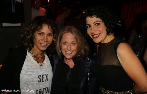 Daphne Rubin Vega, Lesley Gore and Julie Garnye Photo