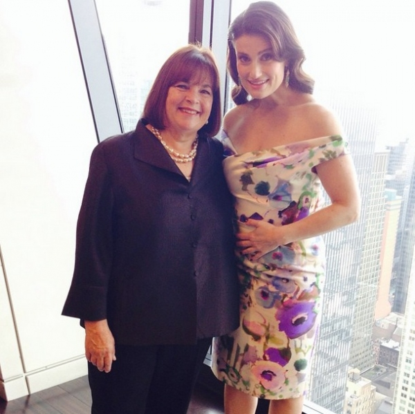 Food Network''s Ina Garten with IF/THEN''s Idina Menzel