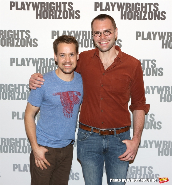 T.R. Knight and playwright Samuel D. Hunter
