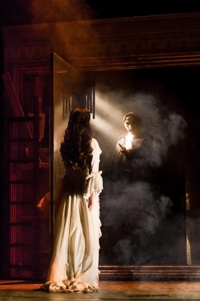 Julia Udine as Christine and Cooper Grodin as The Phantom