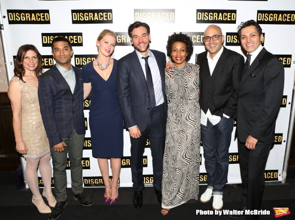 Director Kimberly Senior, Danny Ashok, Gretchen Mol, Josh Radnor, Karen Pittman, Playwright Ayad Akhtar and Hari Dhillon