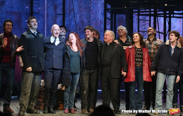 Aaron Lazar, Jimmy Nail, Sting, Rachel Tucker, Michael Esper, Fred Applegate, Sally Ann Triplett and Collin Kelly- Sordelet with cast