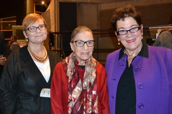 Director Anita Maynard-Losh, Justice Ruth Bader Ginsburg and Artistic Director Molly  Photo