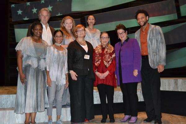 Director Anita Maynard-Losh, Justice Ruth Bader Ginsburg, Artistic Director Molly Smi Photo