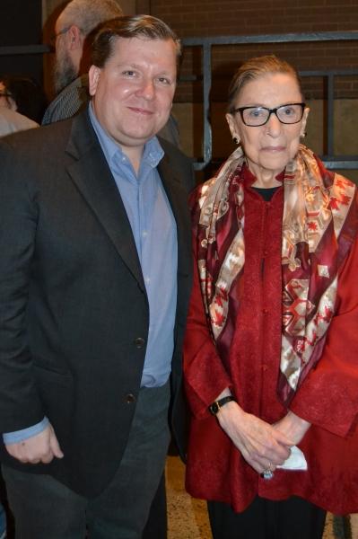 Playwright David Lindsay-Abaire and Justice Ruth Bader Ginsburg