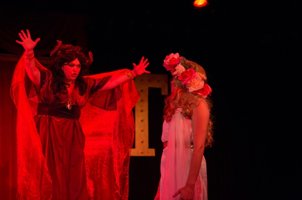 Summer Bohnenkamp (as the Succubus) and Zachary Hines (as the Virgin)  Photo