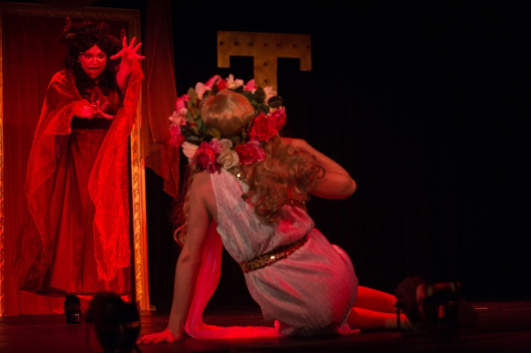 Summer Bohnenkamp (as the Succubus) and Zachary Hines (as the Virgin)