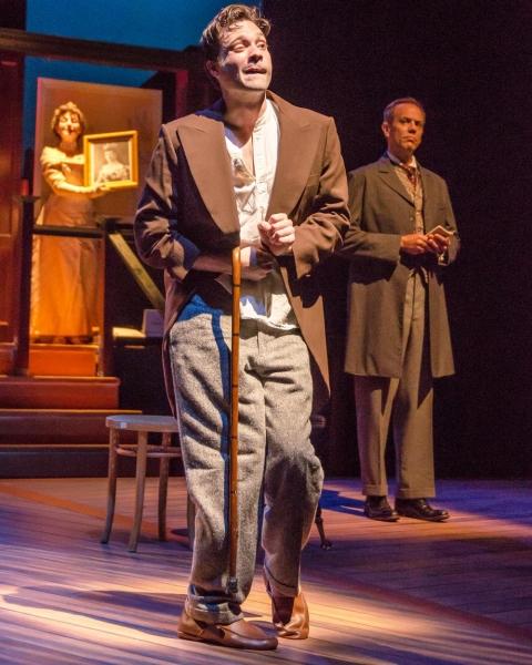 Holly Stevenson as the Princess, Jonathan Horne as Merrick, and Sam R. Ross as Treves
