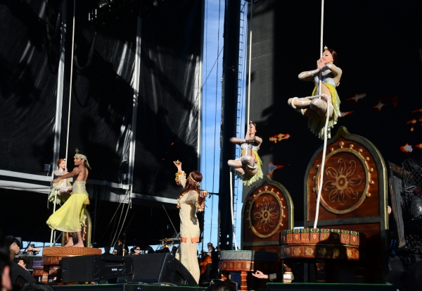 The company of The Beatles LOVE by Cirque du Soleil at Life is Beautiful 2014