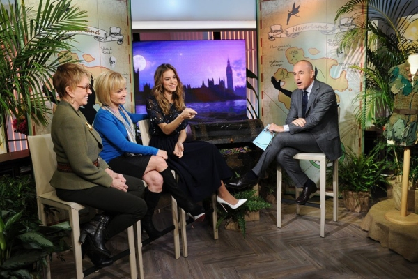 Sandy Duncan, Cathy Rigby, Allison Williams, and Matt Lauer