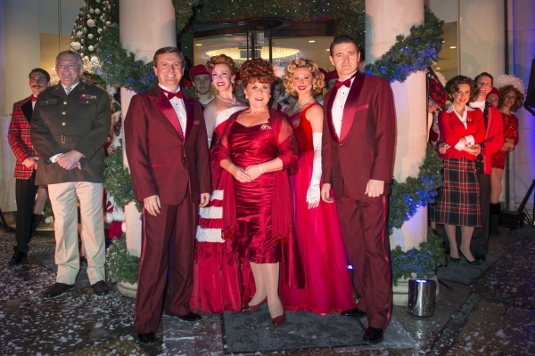 Aled Jones, Wendi Peters, and Tom Chambers and the Cast of White Christmas