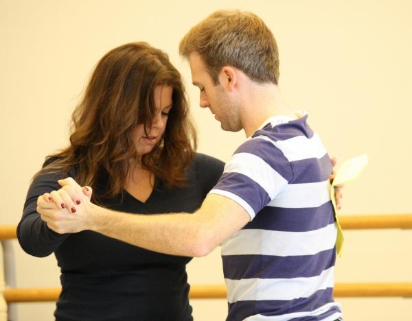 Choreographer Christine O''Grady rehearses with Jeremy Morse.