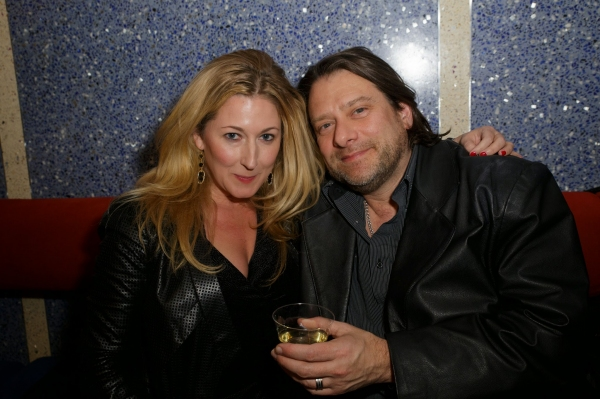 Adrienne Nelson and Ian Armstrong at the after party