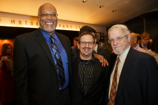 Raphael Nash Thompson, Red Bull Artistic Director Jesse Berger and Howard Owens