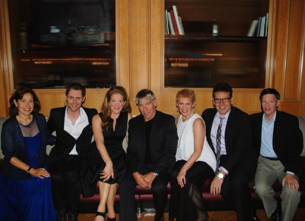 Bay Area Cabaret founder Marilyn Levinson, Michael McCorry Rose, Ana Gasteyer, Stephen Schwartz, Liz Callaway, Michael Orland, and Michael Kerker