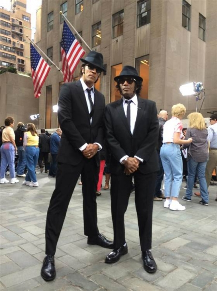 Al Roker and Lester Holt as The Blues Brothers.