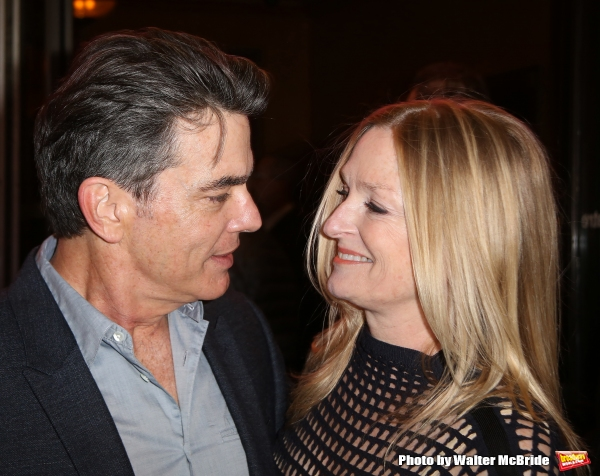 Peter Gallagher and wife Paula Wildash