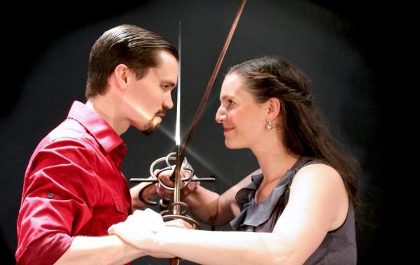 Marcus Watson (Tybalt), Nicole Schalmo (Mercutio)