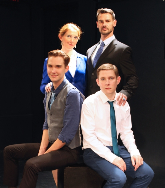 The Montagues: Casey Noble (Benvolio), Kitty Mortland (Lady Montegue), Matthew Williamson (Lord Montegue), Jonathan Emerson (Romeo)