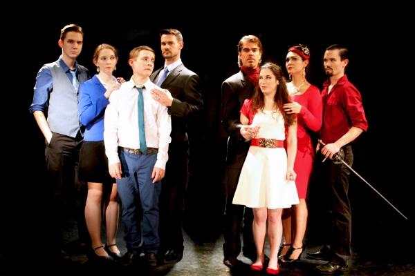 Casey Noble (Benvolio), Kitty Mortland (Lady Montegue), Jonathan Emerson (Romeo), Mat Photo