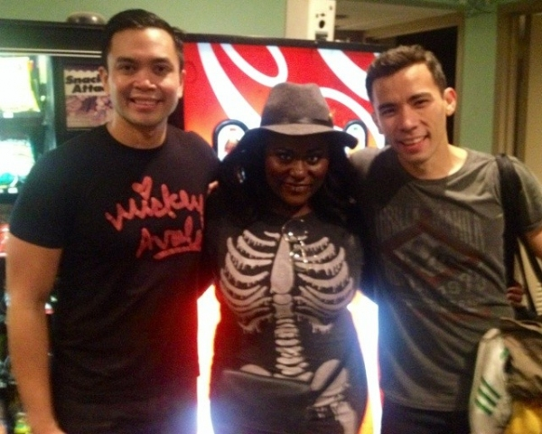 Danielle Brooks with Jose Llana and Conrad Ricamora