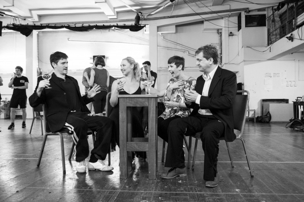 Tom Chmabers (Phil Davis), Louise Bowden (Judy Haynes), Rachel Stanley (Betty Haynes) and Aled Jones (Bob Wallace)