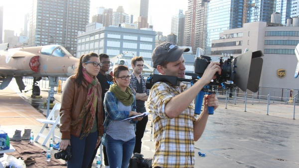Eric Mann (director of photography) and the crew Photo