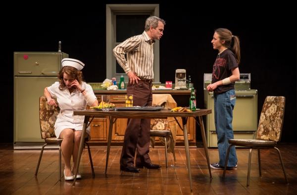 Melanie Keller (Carol), Steve Key (Arthur) and Olivia Cygan (Chris)