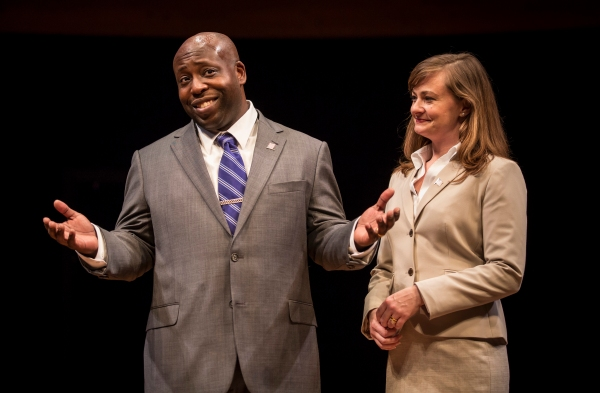 James Earl Jones II (Carlyle) and Tiffany Scott (Janice)