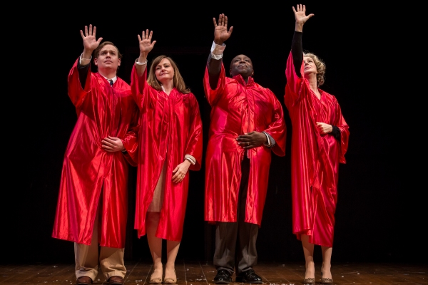 Nate Whelden (Mark), Tiffany Scott (Sarah), James Earl Jones II (Carlyle) and Janice O'Neill (Janice's Mom)