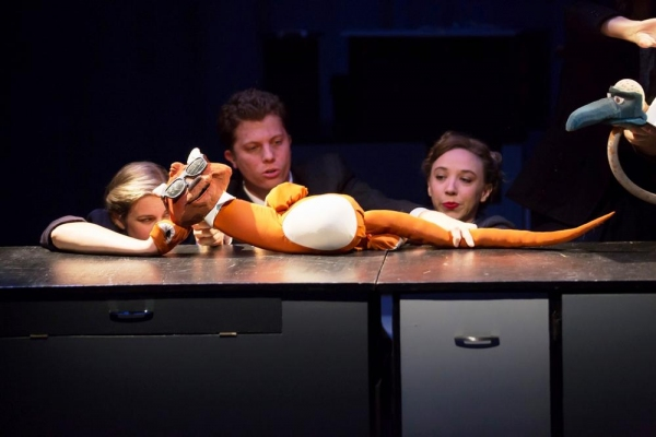 Hanley Smith, Eric Wright, Clare McNulty (Otter puppeteers)