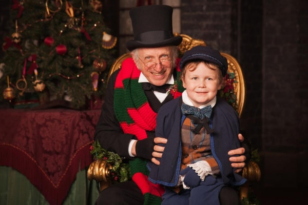 Thomas D. Mahard (Ebeneezer Scrooge) with William Powers (one of our two Tiny Tim Cra Photo