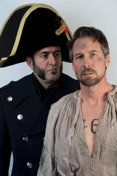 James Zannelli as Javert with Smitherman as Valjean Photo