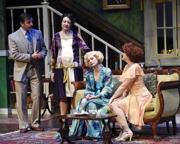 Justin Packard as Clarke, Maria Couch as Marjorie, Michelle Federer as Sylvia, and Bailey Frankenberg as Dierdre
