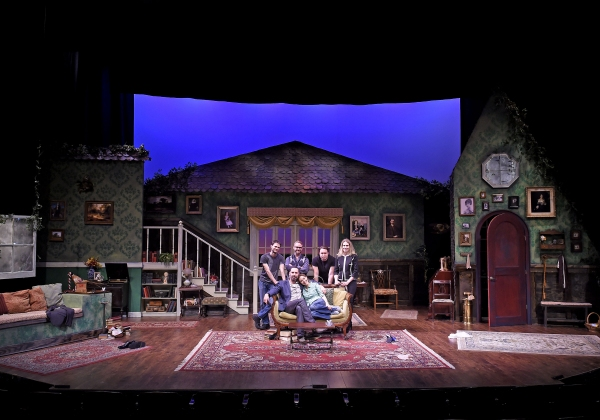 back row: Evan Roby (Lighting), Ryan J. Moller (Costume), Stephen K. Dobay (Scenic),  Photo