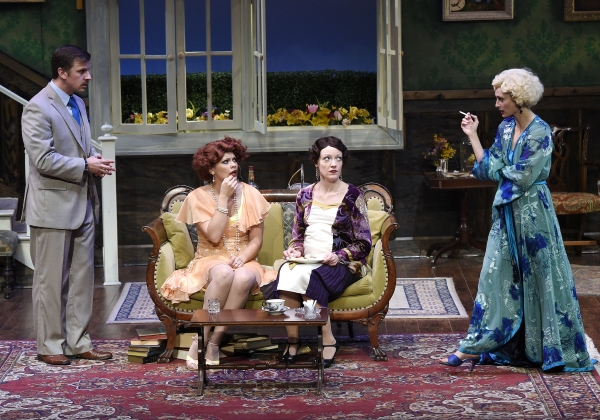 Justin Packard as Clarke, Bailey Frankenberg as Dierdre, Maria Couch as Marjorie, and Michelle Federer as Sylvia