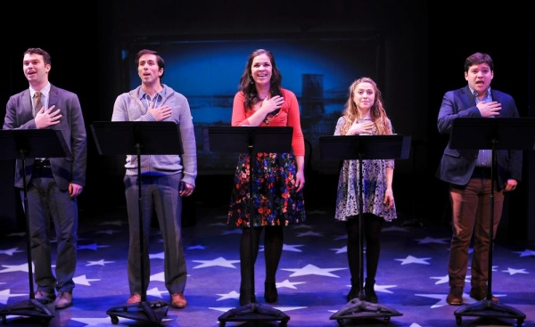 Greg Kamp, Matthew Scott, Lindsay Mendez, Dana Steingold and Jared Loftin