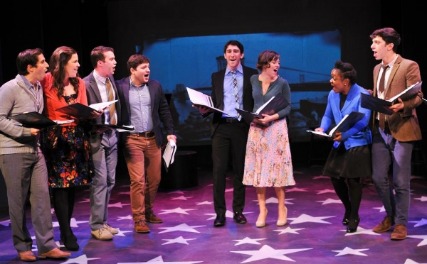 Matthew Scott, Lindsay Mendez, Greg Kamp, Jared Loftin, Ben Fankhauser, Margo Seibert, Kenita Miller and Jeremy Greenbaum