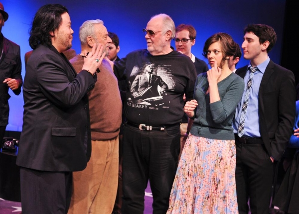 Stafford Arima, Stephen Sondheim, Paul Gemignani, Olli Haaskivi, Margo Seibert and Ben Fankhauser
