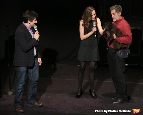 Seth Rudetsky, Laura Osnes and Bill Berloni