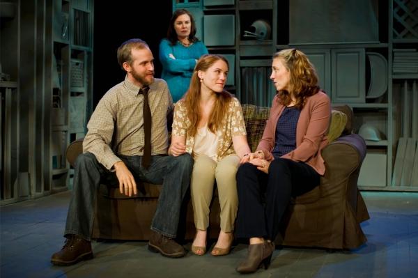 Zac Hoogendyk as Kenny, Victoria Bundonis as Dee, Emily Koch as Chloe, and Mel House  Photo