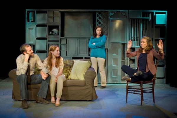 Zac Hoogendyk as Kenny, Emily Koch as Chloe, Victoria Bundonis as Dee and Mel House a Photo